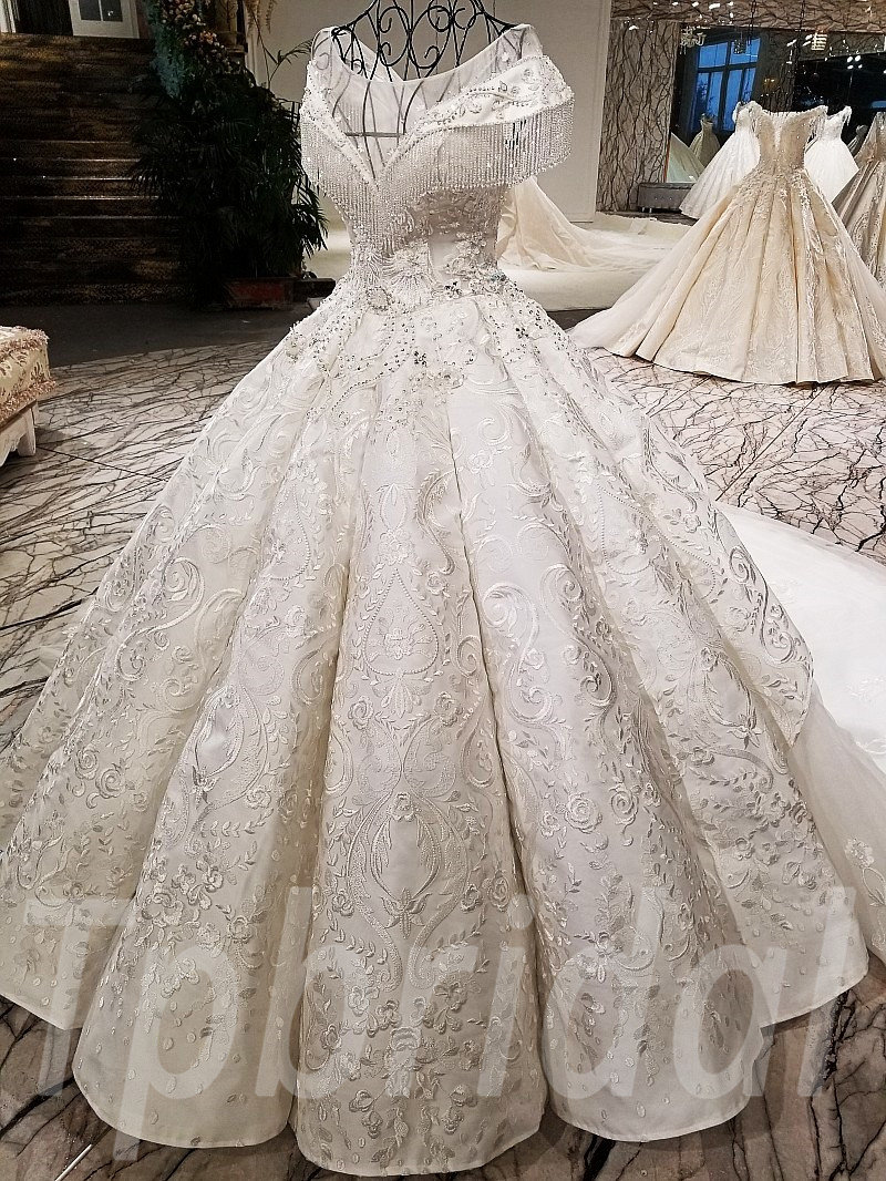 Affordable Wedding Dress Hand Made With Crystal Beading