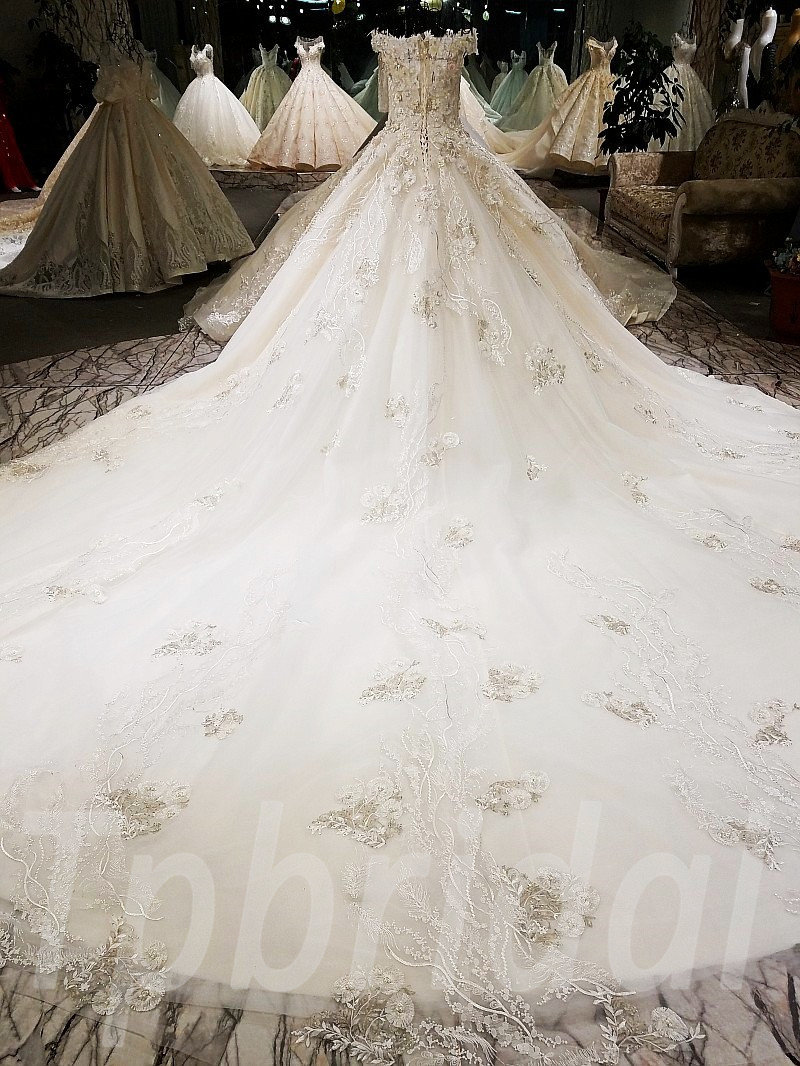 Tube Wedding Dress Hand Made Bridal Gown For Sale • tpbridal