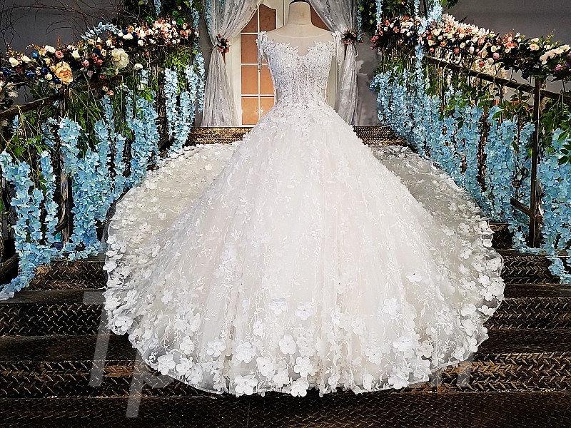 Bridal Dress 2018 Spring White Ball Gown Wedding Online Tpbridal