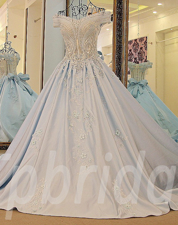 d7242290b Blue prom dresses gorgeous hand made evening gown online • tpbridal