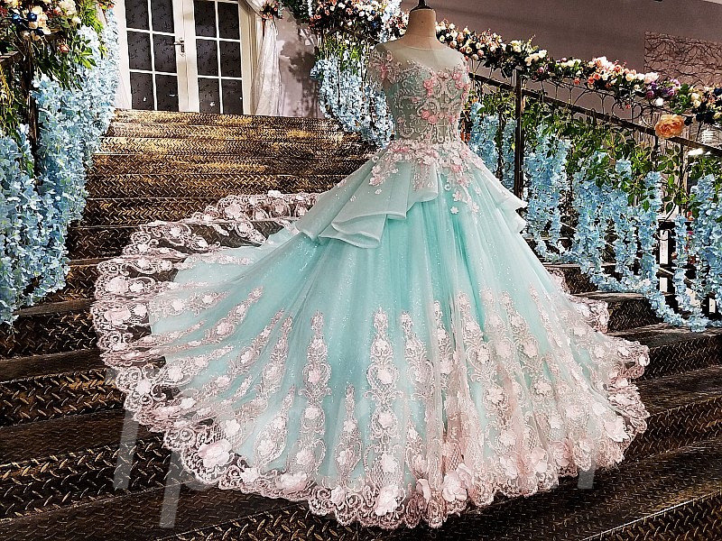 a199380b96233 Light Blue Prom Dress A-Line Princess Evening Gown Online