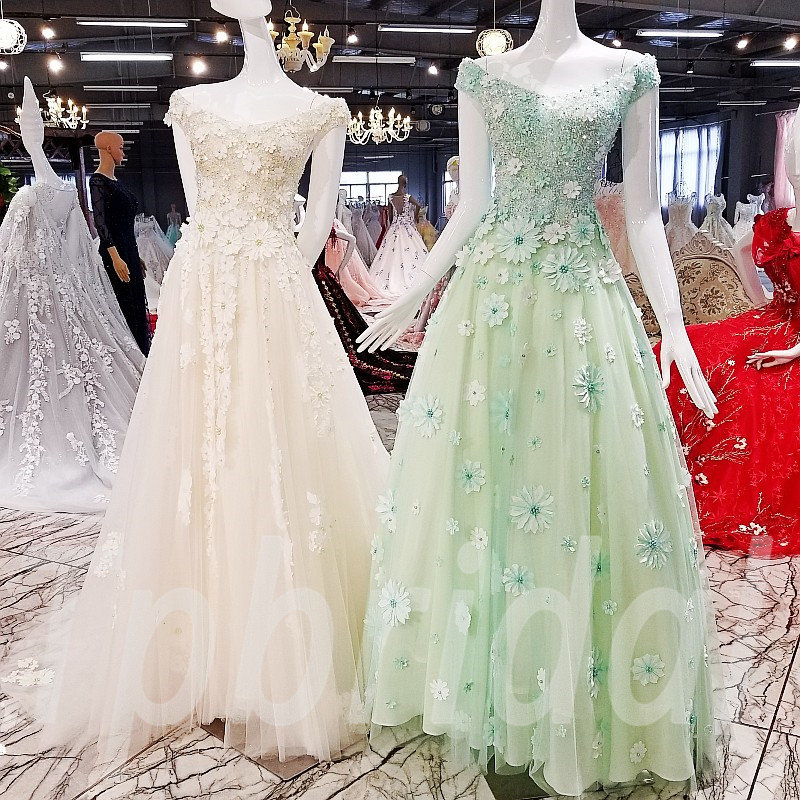Light Green Prom Dress A Line Champagne Party Dress Sale Tpbridal