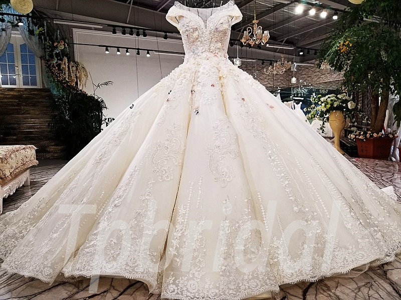 Plus Size Wedding Dresses Off Shoulder Ball Gown Bridal Dress