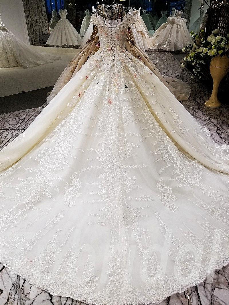 Plus Size Wedding Dresses Off Shoulder Ball Gown Bridal Dress