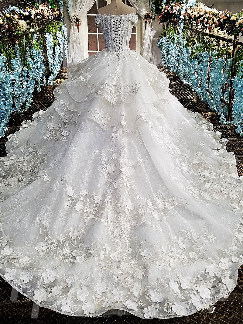 Princess Wedding Dress Off The Shoulder Ball Gown Bridal Gown Tpbridal