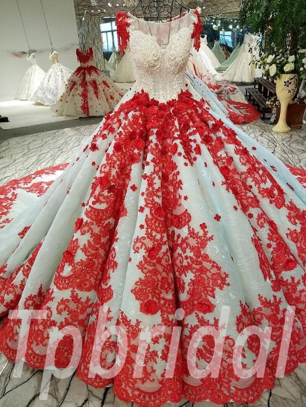 e9927d0c6f03 Red wedding dresses gorgeous bridal gown online shopping • tpbridal