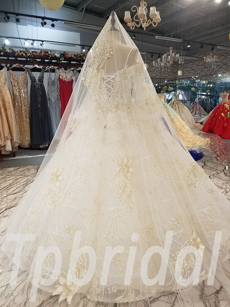 Ball Gown Wedding Dress With Long Train 284 05