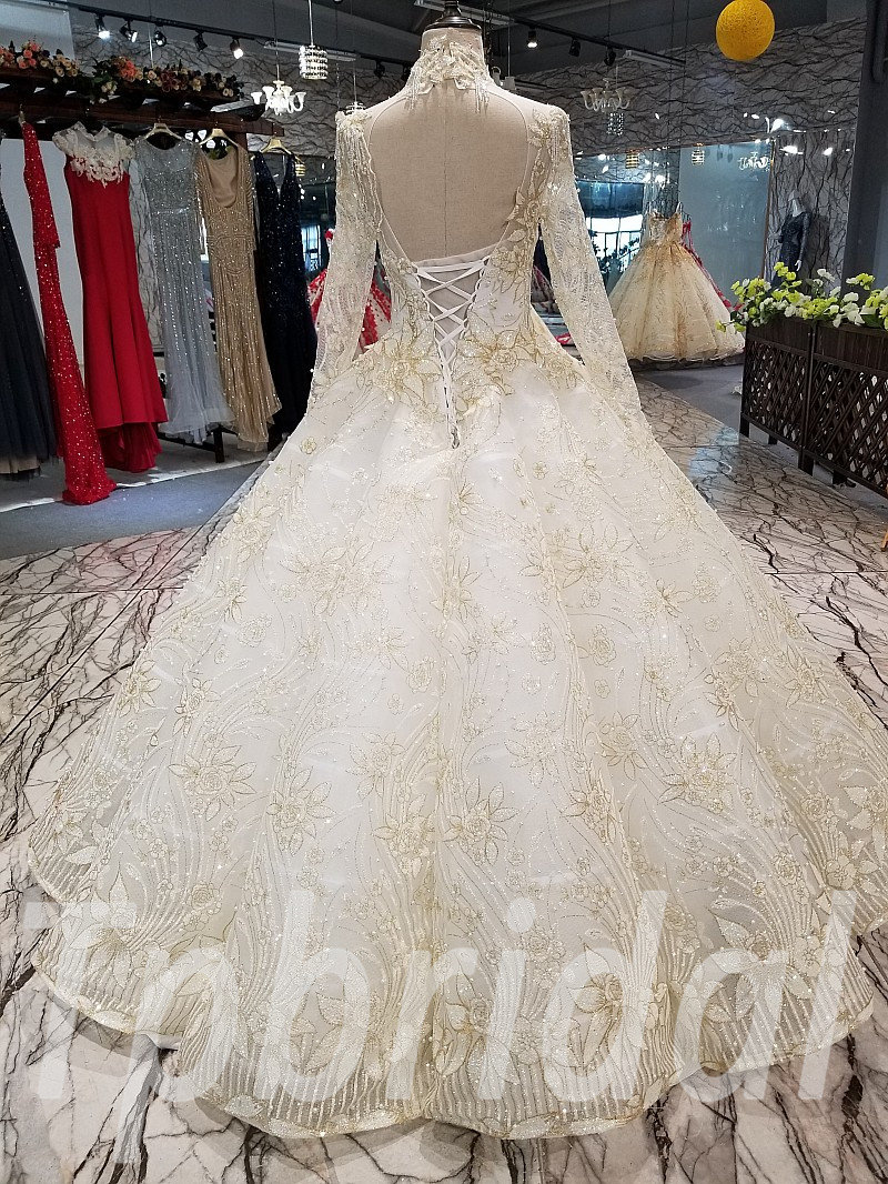 Gold Wedding Dresses.White And Gold Wedding Dress Ball Gown Under 500