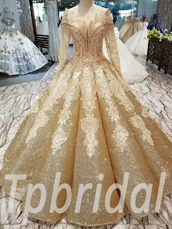 1ab7822f4 Gold prom dresses gorgeous formal evening gown online • tpbridal