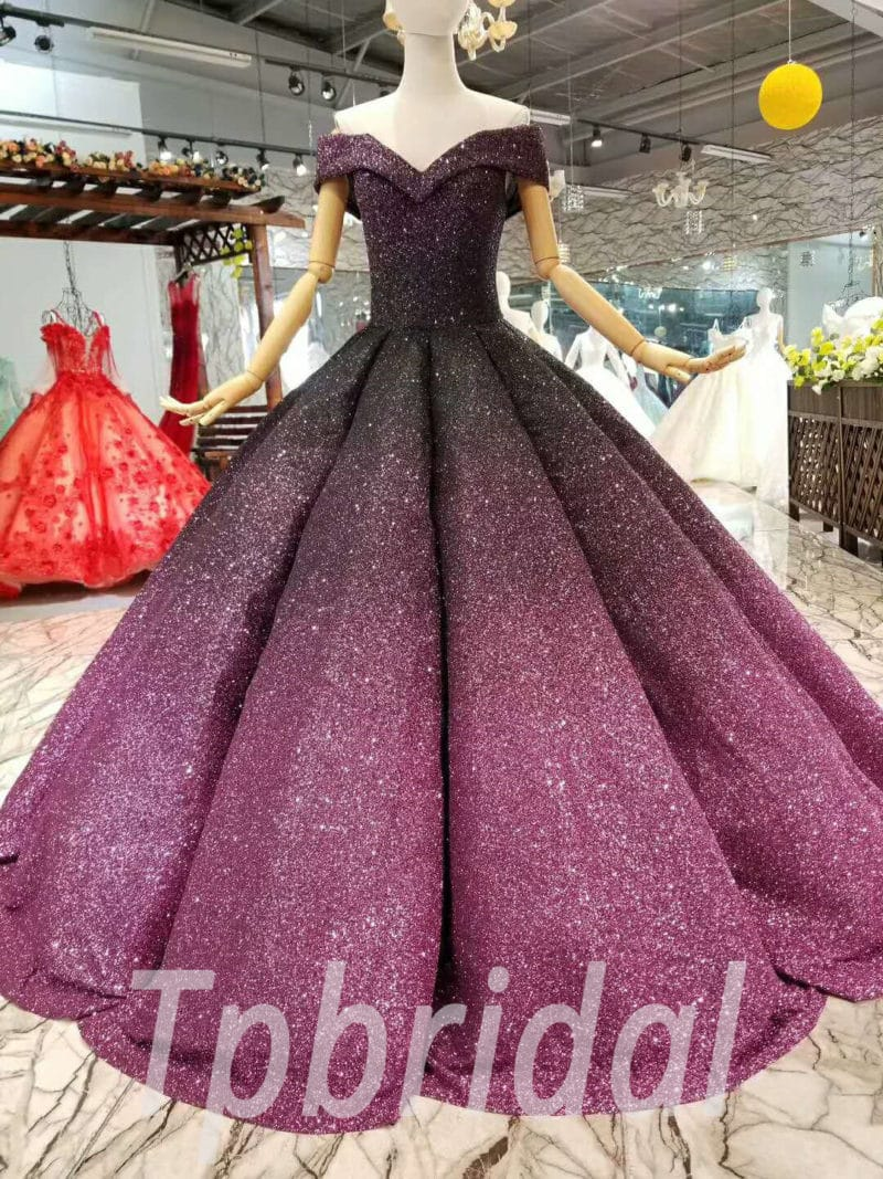 a0969b660e5 Burgundy Prom Dress Ball Gown Princess Off The Shoulder