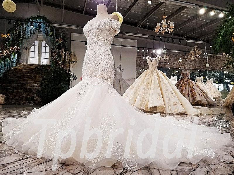 Mermaid Wedding Dress Plus Size Custom Made