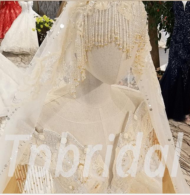 Wedding Dress With Veil Princess Ball Gown Plus Size