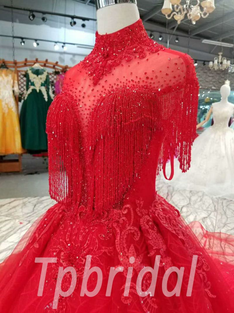 Red Wedding Dresses.Red Wedding Dress Plus Size A Line Long Train Prom Dress