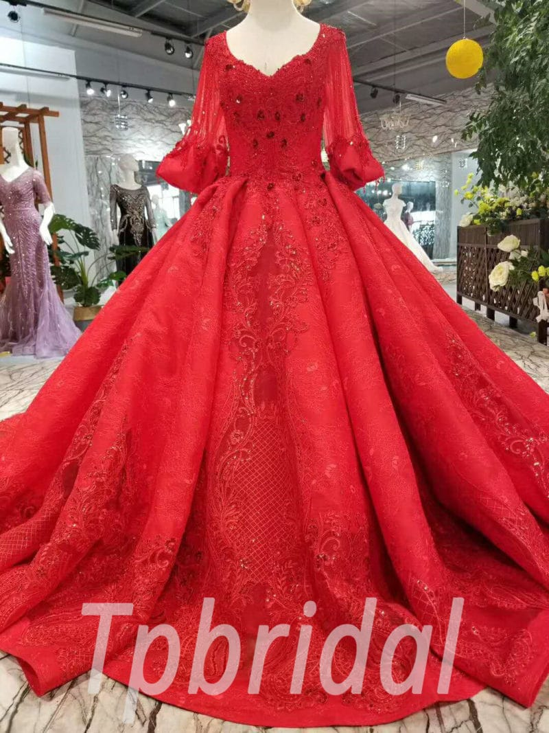 367209ae0 Plus Size Red Wedding Gowns