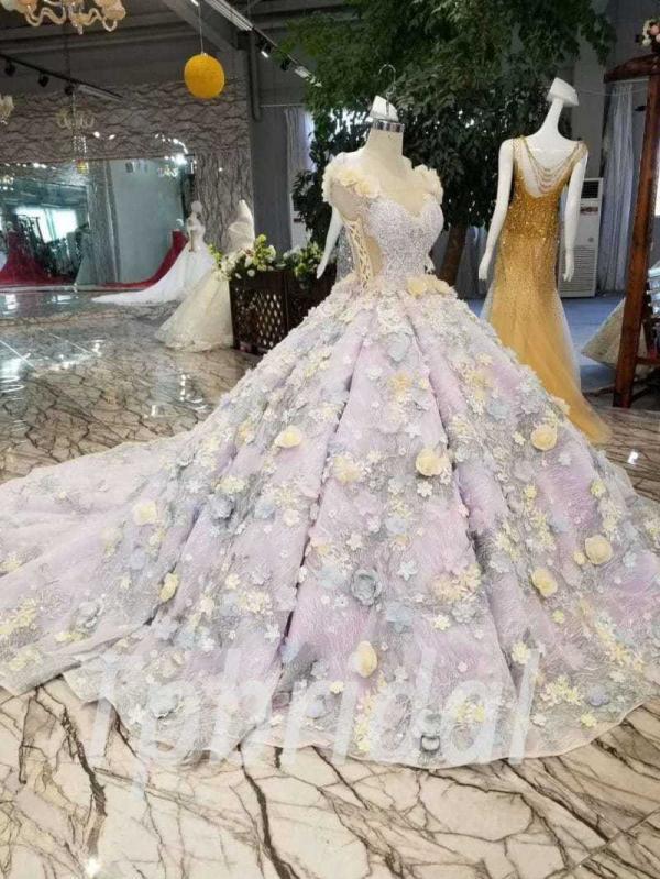 Light Purple Wedding Dress Tpbridal