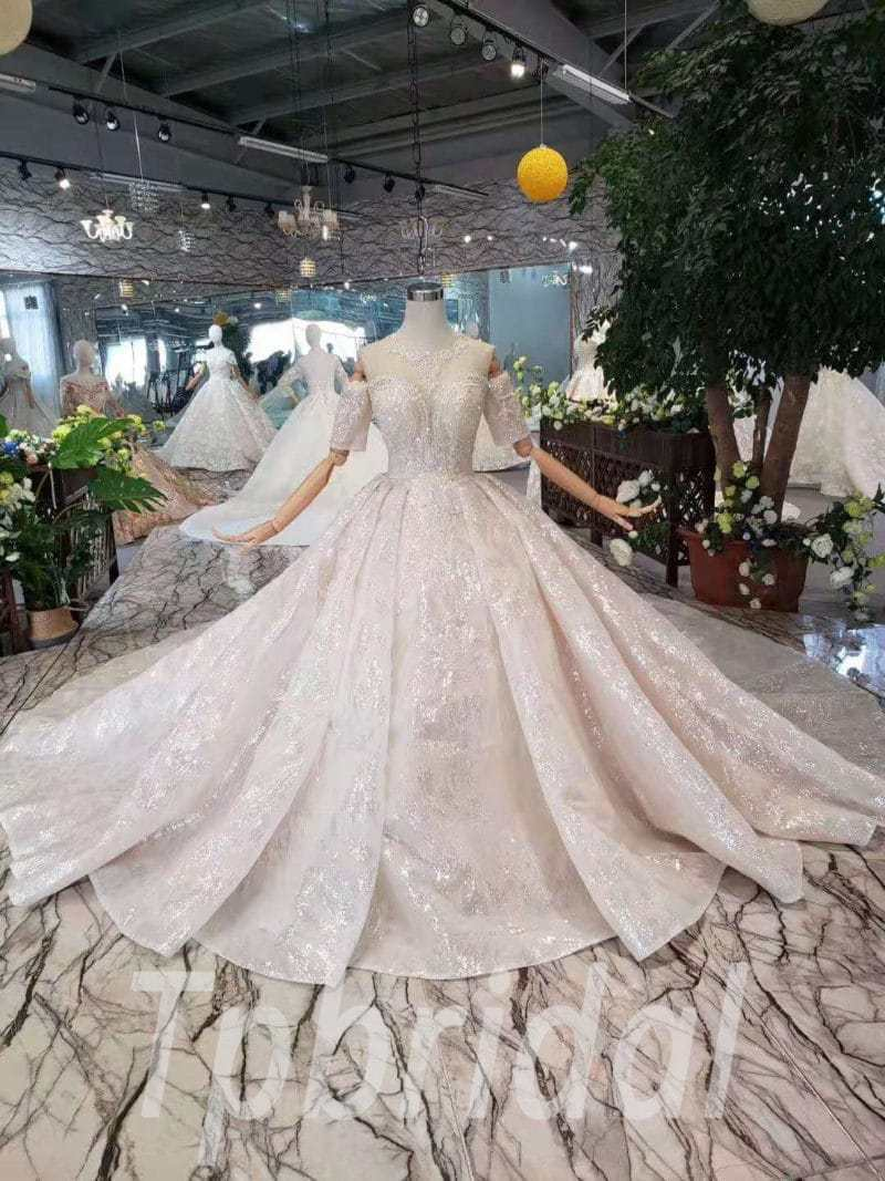 Bling Ball Gown Wedding Dresses