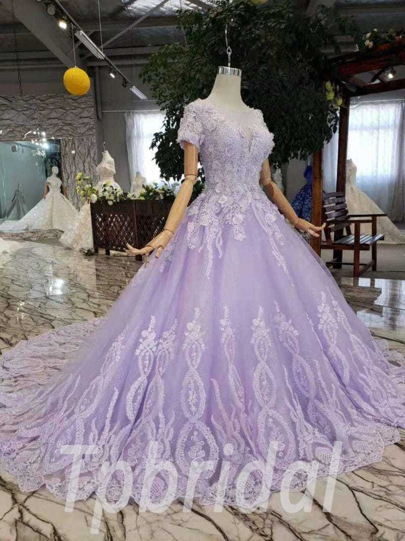 Lavender Quinceanera Dress Princess Ball Gown Prom Dress