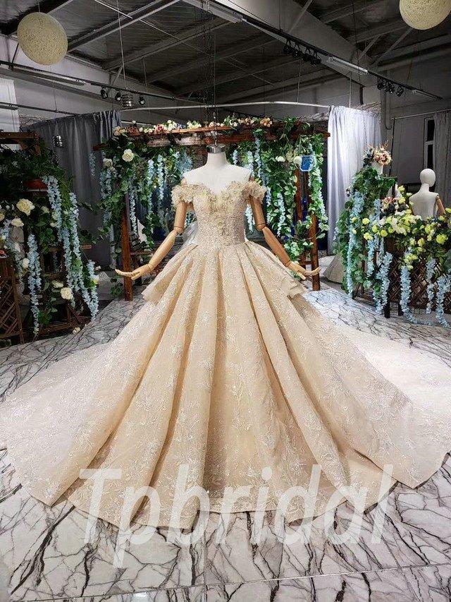 Wedding Dress Online.Champagne Princess Wedding Dress Online For Sale